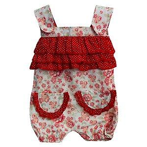 Macacão Para Bebê Glamour Floral