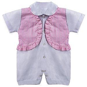 Macacão Para Bebê Menina Fofinha