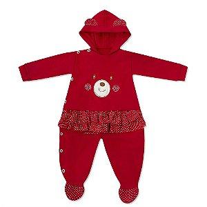 Macacão Teddy Bear Vermelho