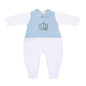Macacão Majestade Azul Bebê