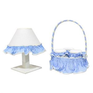 Kit Acessórios 5 Peças Elefante Azul Bebê