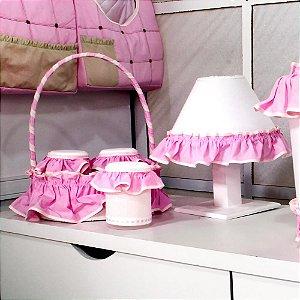 Kit Acessórios 5 Peças Princesa Luxo Rosa