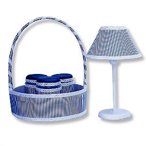 Kit Acessórios Clássico Azul Marinho 5 Peças