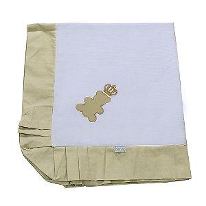 Manta Enxoval Piquet  Urso Encantado Palha