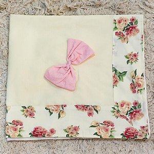 Manta Piquet Floral Luxo