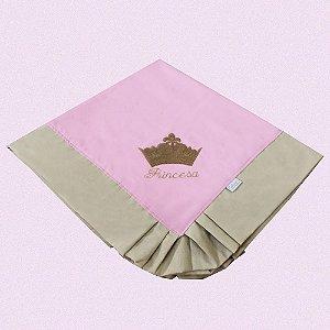 Manta Enxoval Piquet Princesa Luxo Rosa