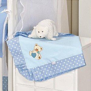 Manta Enxoval Piquet Urso Baby