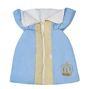 Porta Bebê Coroa Luxo Azul Bebê