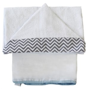 Toalha De Banho Chevron Azul Bebê
