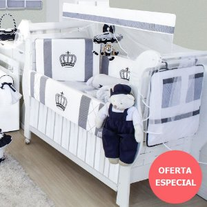 Kit Berço Rei Marinho Listrado 11 Peças