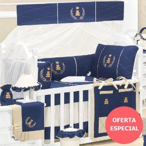 Kit Berço Realeza Luxo 9 Peças