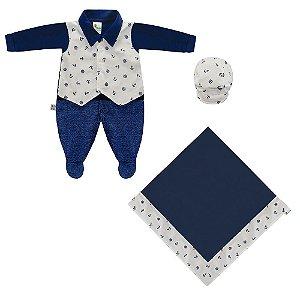 Saída Maternidade Coletinho Azul Marinho