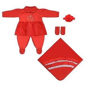 Saída Maternidade Princess Vermelha