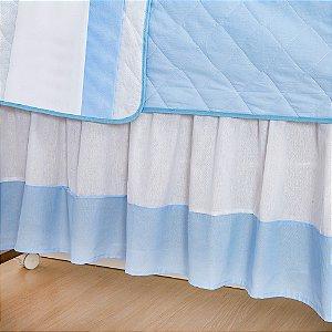 Saia de Berço Imperial Príncipe Azul Bebê