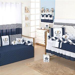 Quarto Completo Príncipe Urso Azul Marinho
