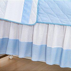 Saia de Berço Príncipe Urso Azul Bebê