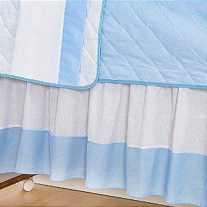 Saia de Berço Savana Azul Bebê