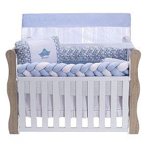 Kit Berço Trança Star Alteza Azul Bebê