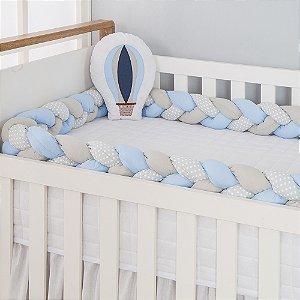 Kit Trança para Berço Balão Azul Bebê 2 Peças