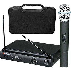 Microfone Sem Fio Karsect Kru302 Mao Duplo Uhf Profissional