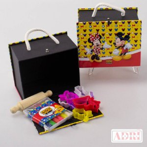 Mini Maleta Kit Massinha - Mickey e Minnie