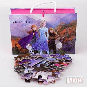 Maleta com Quebra Cabeça de 54 peças - Frozen 2
