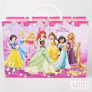 Maleta com Quebra Cabeça de 54 peças - Princesas Disney