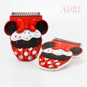 Mini Caderno no Formato da Cupcake - Minnie