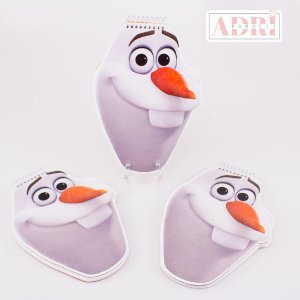 Mini Caderno no Formato Olaf - Frozen