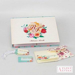 Caixa de Papelaria Personalizada 3 - Floral