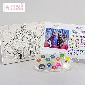Kit de Pintura com Tela Riscada - Frozen 2