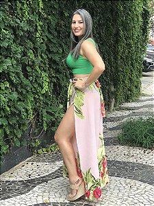a612e9a0f Calça Pantalona Envelope Girassol Rosé zoom