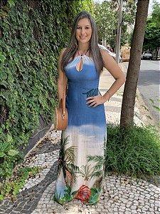 Vestido Longo Paraíso Azul