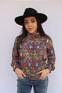 Camisa Feminina Country Étnica Africana