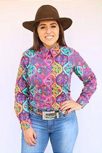 Camisa Feminina Country Floral