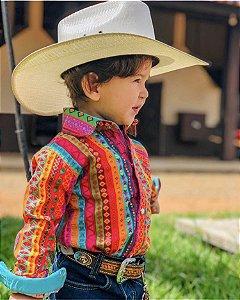 Camisa Infantil Country Étnica