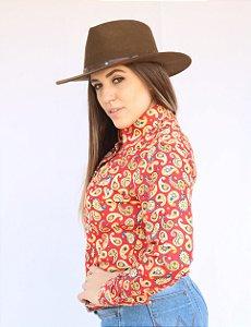 Camisa Feminina Country Paisley