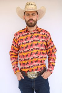Camisa Masculina Country Horse Life