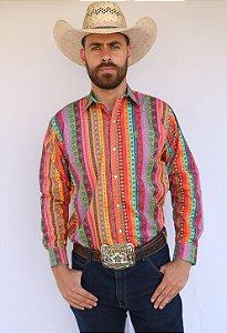 Camisa Masculina Country Étnica