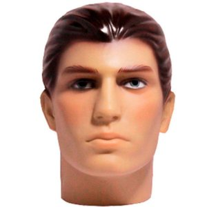 Cabeça Manequim Expositor Masculino Maquiada em PVC E-01 MCM Zoke