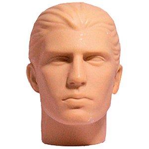 Cabeça Manequim Expositor Masculino sem Maquiagem em PVC E-01 MCS Zoke