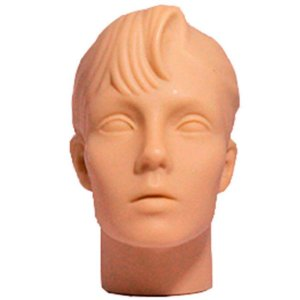 Cabeça Manequim Expositor Feminino sem Maquiagem em PVC E-01 MCS Zoke