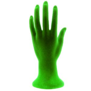 Mão Manequim para Exposição de Jóias Flocada 100447 Verde Zoke