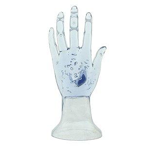 Mão Manequim para Exposição de Jóias em Acrílico 100215 Transparente Zoke