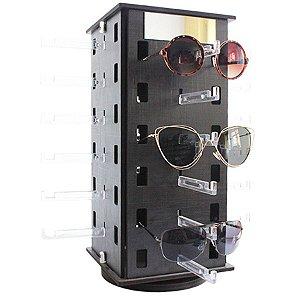 86da12fec4c0b Expositor Giratório para 24 Óculos em MDF com Espelhos 24MDF Preto Zoke