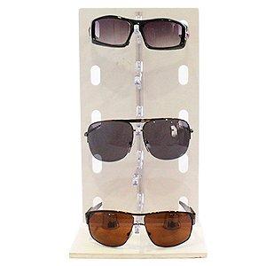 38416916c2e55 Expositor para 5 Óculos em Acrílico e MDF P5INJ Branco Zoke