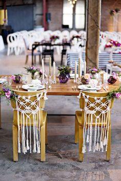 Macramé cadeira dos noivos