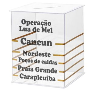 Caixa acrílico Cancun Hora da Gravata