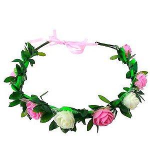 headband flor delicada