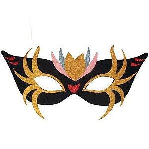 Painel Mascara Carnaval com Glitter